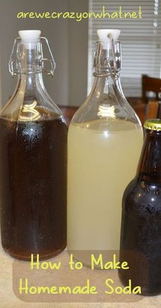Step by step instruction on how to make homemade soda. Plus recipes and instructions on bottling homemade soda. #beselfreliant