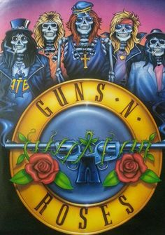 Guns N Roses 1988 Rare Vintage Poster by VintagePosterPlace
