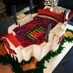 Check out this awesome Ole Miss cake!