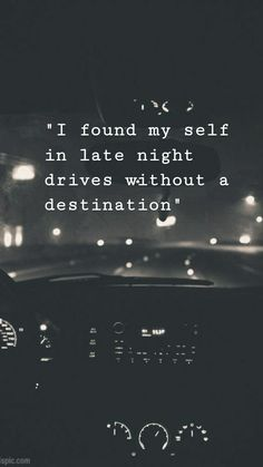 20 Best Late Night Drives Images Messages Beautiful Words