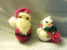 Knitting: Santa & Snowman Knit Ornaments