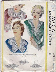 1930s Braid Stitch Transfer Collar Cuffs by SewAsItWasPatterns