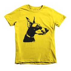 Doberman Pinscher Kids T-shirt, Doberman Youth Shirt, Personalised Kids Shirt, Custom Nephew Gift, Gift For Niece, Doberman Kids Clothes by MONOFACESoCHILDREN on Etsy
