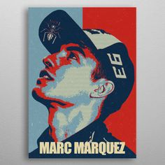 """Beautiful """"Marc Marquez"""" metal poster created by Izmo Scribbles. Our Displate metal prints will make your walls awesome. Poster Prints, Posters, Marc Marquez, Valentino Rossi, Wood Patterns, Print Artist, Black Wood, New Artists, Scribble"""