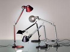 Direct light aluminium desk lamp TOLOMEO TABLE MICRO by Artemide Italia design Michele De Lucchi, Giancarlo Fassina