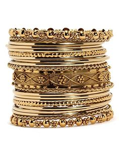 Bindhani Bollywood Bridal Jewelry Wedding Golden Rhinestone Party Wear Indian Kada Bangle Set For Women
