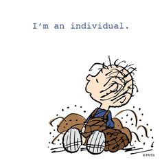Celebrate being yourself! by snoopygrams Charlie Brown Quotes, Charlie Brown And Snoopy, Die Peanuts, Peanuts Snoopy, Snoopy Love, Snoopy And Woodstock, Snoopy Comics, Pig Pen, Snoopy Quotes