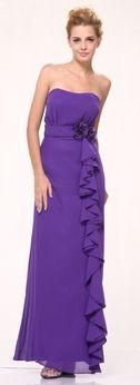 Purple Prom Dress Purple Cocktail Gowns Bridesmaid Wedding Formal
