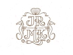 JR & MK wedding monogram by Mike Bruner Family Logo, Typography Love, Monogram Design, Monogram Wedding, Initial Letters, Flower Centerpieces, Logo Design Inspiration, Logos, Line Art