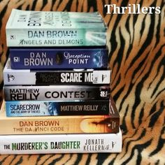 Day 16 of the #QBDchallenge - 'a thriller'. . #bookchallenge #aprilbookchallenge #thrillerfiction #thrillerbooks #danbrown #angelsanddemons #deceptionpoint #thedavincicode  #matthewreilly #contest #read #reading #scarecrowandthearmyofthieves #jonathankellerman #themurderersdaughter #richardparker #scareme  #books #booklover  #bookstagram #bookstagrammer #igreads #instabooks #igbooks #bookaccount by readwritegc