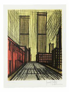 Bernard BUFFET (1928-1999) GRATTE-CIELS A NEW YORK Lithographie Sold 1 100€ #artauction