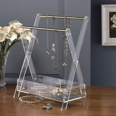 Mercer41™ Acrylic Bar Jewelry Stand | Wayfair