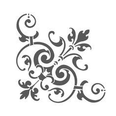 Corner Stencil Reusable Template Simone for Wall DIY decor Stencils, Stencil Decor, Damask Stencil, Stencil Templates, Stencil Patterns, Stencil Art, Stencil Designs, Wall Stenciling, Stencil Printing