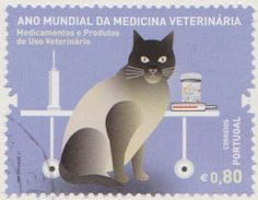 CAT STAMP IN SUPPORT OF VETERINARY MEDICINE PORTUGAL.