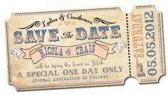 Cool vintage invite idea