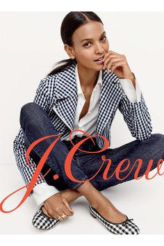 Crew Spring 2016 collection featuring Liya Kebede, Carolyn Murphy, and a whole lot of gingham. Teen Fashion, Fashion Outfits, Womens Fashion, Gingham Shoes, Preppy Style, My Style, Spring Summer Fashion, Spring 2016, Summer 2016