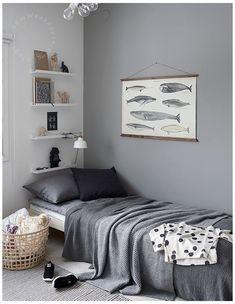 Grey Boys Rooms, Boys Bedroom Colors, Grey Bedroom Decor, Small Room Bedroom, Bedroom Ideas, Small Rooms, Bedroom Boys, Girl Rooms, Nursery Room