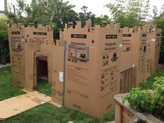 Cardboard fort I created for my sons 1st birthday party. It was a full on success. The kids played in it and cried when they had to leave. I only paid for the duct tape. All the boxes I got from Lowes free. And my son and I enjoyed pitting it together together. :). Happy building