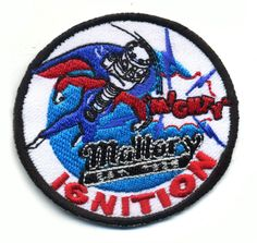 mallory ignition patch badge Mighty hot rod drag race muscle car speed shop