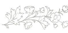 Me voici de retour avec de nouveaux croquis de fleurs - Broderie d'Antan