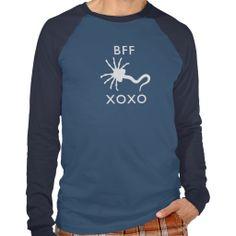 Face Hugger - Best Friends Forever (BFF) T-shirt. Alien Movie. Game over.