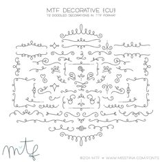 MTF Decorative | MissTiina.com {Fonts} :: Illustration & Design, Digital Scrapbooking, Free Fonts, Tutorials and more!