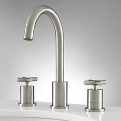 Exira Widespread Bathroom Faucet - Overflow - Brushed Nickel