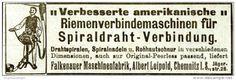 Original-Werbung/ Anzeige 1912 - RIEMENVERBINDEMASCHINEN /FALKENAUER MASCHINENFABRIK LEIPOLD - CHEMNITZ - ca.100 x 30 mm