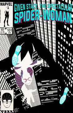 Cover based off of John Bryne's Spectacular Spider-Man the Spider-Gwen designs are based off of Robbi Rodriguez design sheet. The Spider-Man Noir h. The Spectacular Spider-Woman 101 [Color] Marvel Comic Books, Comic Book Characters, Comic Books Art, Marvel Comics, Marvel Heroes, Marvel Characters, Spider Girl, Spider Women, Spectacular Spider Man