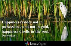 Happiness resides. ..