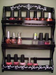 Use a spice rack for nail polish! @Kristina Park I think you'd need about 10 spice racks