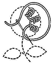 CHAINED STITCHES: vocabulary 4: Rosette Chain Stitch design by Mrs. A. Christie London 1920