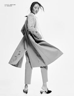 The Autumn 2017 Creek Tailoring Coat and Blueberry Tailoring Trousers featured in Shop tailoring now! Tailor Shop, Tailored Suits, Temperley, Work Wardrobe, Designing Women, Editorial Fashion, Duster Coat, Ballet Skirt, Style Inspiration