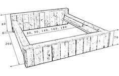 bed maken van steigerhout