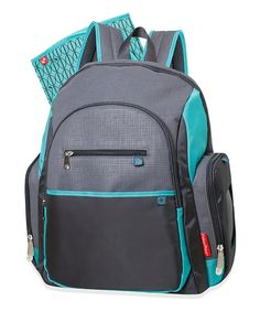 This Aqua & Gray Fast Finder Backpack Diaper Bag by Fisher-Price is perfect! #zulilyfinds