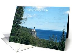 Father's Day-Lighthouse On The Rocks Landscape-Custom Card. Recently purchased by a customer in Oregon, Thank You!