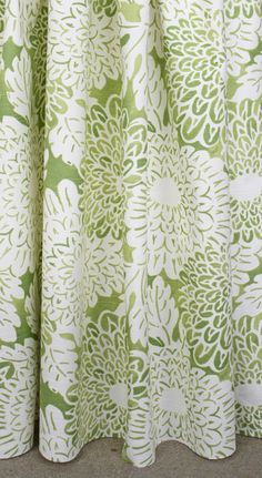 Green and white floral fabric. Available at www.tonicliving.com by the yard (or buy a swatch first, we ship worldwide!).