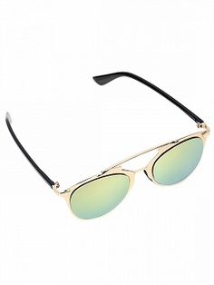 9f28b261b212 Rose Gold Mirrored Lens High Bar Retro Sunglasses