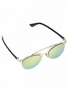 Shop Rose Gold Mirrored Lens High Bar Retro Sunglasses from choies.com .Free shipping Worldwide.$27.99
