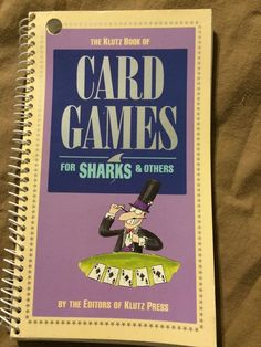 Vintage The Klutz Book Of Card Games For Sharks And Others Paperback Book How To