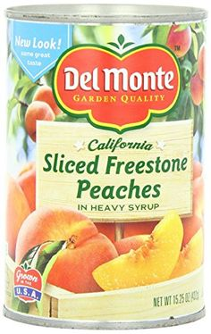 Del Monte Sliced Freestone Peaches in Heavy Syrup 15.25oz Can (Pack of 12) >>> Instant discounts available  : Baking Desserts recipes