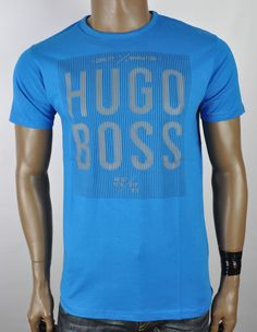 NWT Genuine HUGO BOSS Men s T-Shirt From Green Collection Hugo Boss Man, Sport Casual, Crew Neck, Fancy, Mens Fashion, Mens Tops, T Shirt, Clothes, Collection