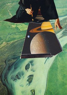 pintor planetario by Collage al Infinito by Trasvorder, via Flickr