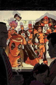 Deadpool #3/#4 by Tony Moore *
