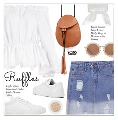"""""""All Ruffled Up 3"""" by paculi ❤ liked on Polyvore featuring House of Holland, ruffles, yoins, yoinscollection and loveyoinsin"""