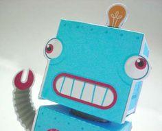 robot paper toy #free #printable #kids #diy #crafts