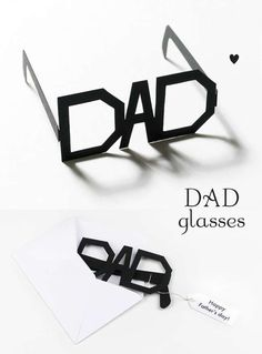DIY Typography Dad Glasses