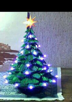 Arbolito navideño iluminado