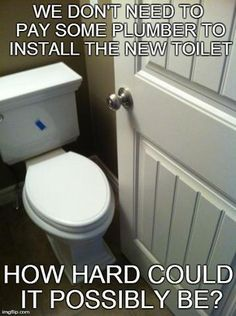 Don't try to install a toilet all by yourself. Call Beehive Plumbing today! http://beehiveplumbing.com/