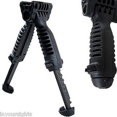 New Airsoft Vertical Foregrip / Adjustable Tactical Bipod T-Pod Free Post U.K.
